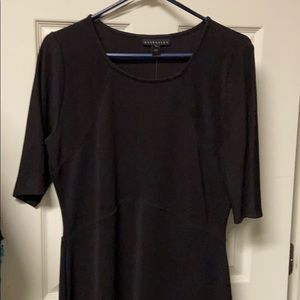 Black stretchy knee length dress